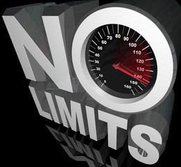 No Limits Speedometer Words Unlimited Potential