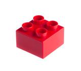 Fototapety Plastic building blocks isolated on white background