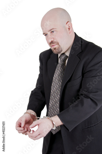 Businessman in handcuffs 8