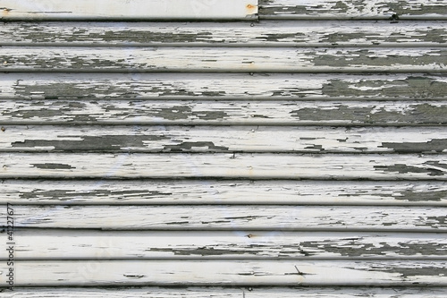 Paint Peeling, retro Beveled Siding