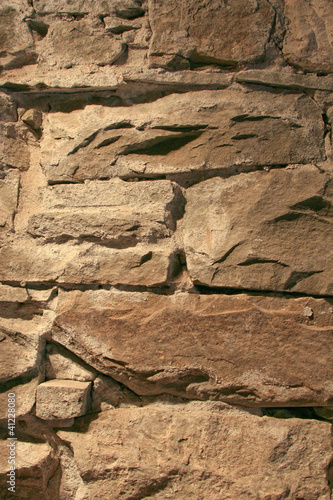Rough Rock and Mortar Wall