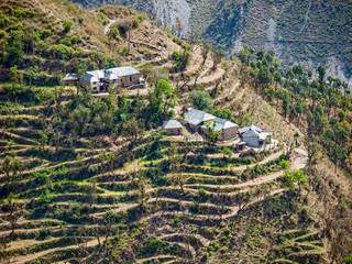 Village in remote himalayan region, India
