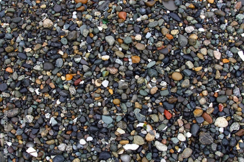 Shiny and Colorful Beach Pebbles