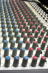 Sound mixer tuning color image