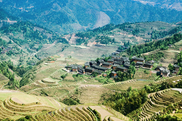 village and terraced fields