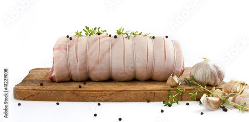 Fresh Rolled pork meat roast