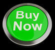 Buy Now Button In Green Showing Purchases And Online Shopping