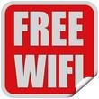 Sticker rot quadrat cu FREE WIFI
