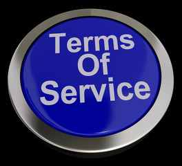 Terms Of Service Computer Button In Blue Showing Website Agreeme