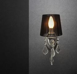 Black elegant aplique with wallpaper