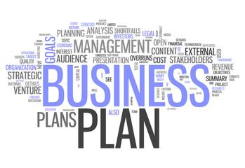 "Word Cloud ""Business Plan"""