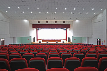theatre chairs and stage