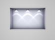 3d empty niche with spotlights for exhibit