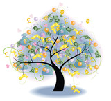 Tree of Wealth (vector)--- Blend mode (no bitmap effect) poster