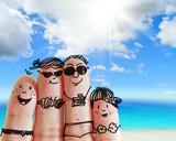 Fototapety finger family