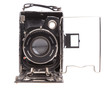 Old camera on a white background