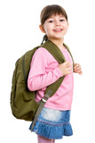 Schoolgirl with backpack