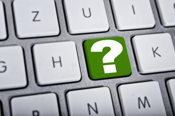 Fragezeichen Tastatur