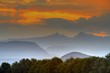Misty mountain sunset. Hodson's Peaks - 41238670