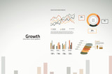Growth charts and graphs for business and companies
