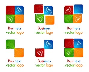 3D colored circle in square logo
