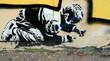 Fototapete Ausdruck - Körperhaltung - Graffiti