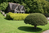topiary in front of ancient aviary poster