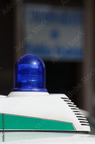 Lampeggiante auto della Polizia Municipale