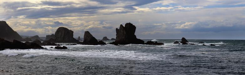 Costa Asturiana en Cudillero (panorama)
