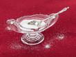 Cut glass bowl full of table salt