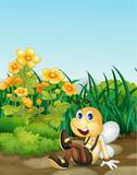 Bee in garden