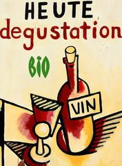dégustation de vin bio