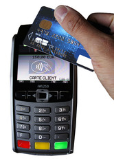 Paiement carte bleue sans contact
