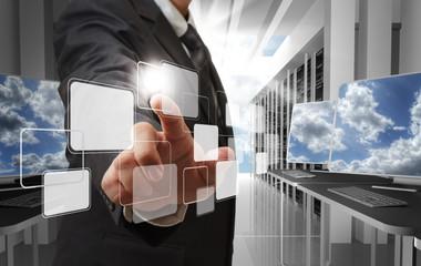cloud network concept