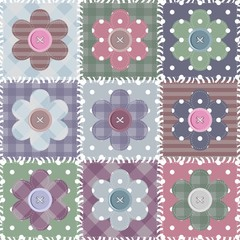 set with scrapbook flowers