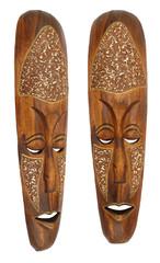 Wooden brown ritual mask