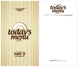 Today`s Menu Card Design template