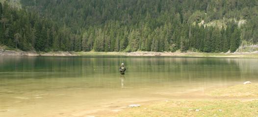 fishing on glacier