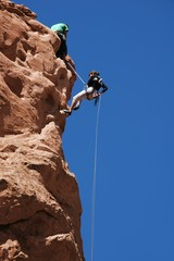 Climbing in the Garden of the Gods, Colorado