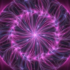 Pink Fractal Mandala