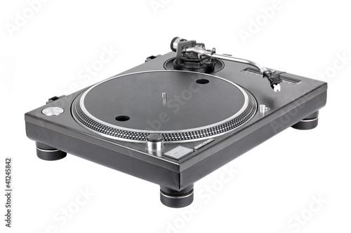 Turntable on white background