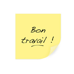 post it d'encouragement : Bon travail !