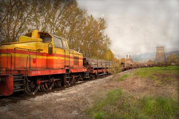 treno merci con vagoni