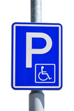 Parking space for disabled drivers