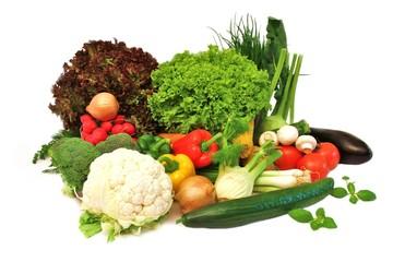 freigestelltes Gemüse