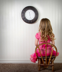 A child in time out or in trouble