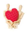 Modellpuppen halten Herz