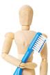 Modellpuppe mit Zahnbürste