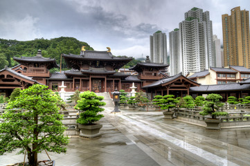 Chi Lin Nunnery in Kowloon, Hong kong.