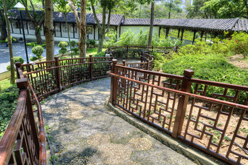 Garden Path, Kowloon Walled City Park, Hong Kong.